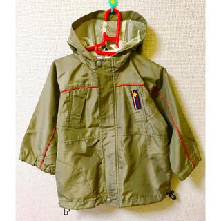 ニッセン(ニッセン)のミリタリー風パーカージャケット 95cm カーキ(ジャケット/上着)