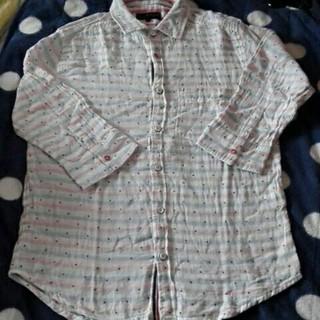 シマムラ(しまむら)のガーゼ素材の七分袖シャツ Mサイズ ③(シャツ)