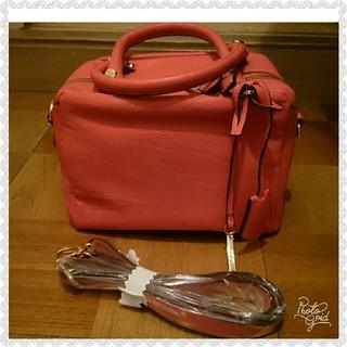 オペーク(OPAQUE)のワールド world rougeloup サーモンピンクのバッグ 新品(ハンドバッグ)