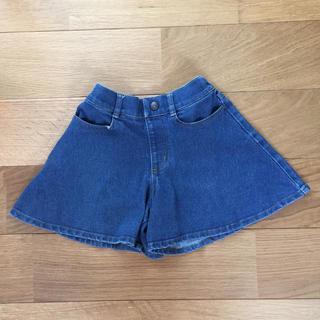 ジーユー(GU)のデニムパンツスカート  110センチ  キュロットスカート(スカート)
