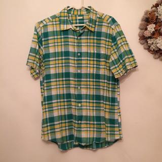 ジーユー(GU)の◎お値下げ◎ GU コットンリネン シャツ Lサイズ(シャツ)