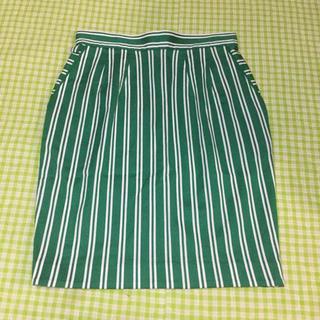 イチパーセント(1%)の1% 1percent ShuheiOgawa 緑 タイトスカート (ミニスカート)