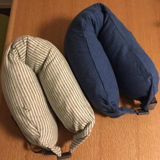 ムジルシリョウヒン(MUJI (無印良品))の【美品】無印良品 ネッククッション☆2個セット(旅行用品)