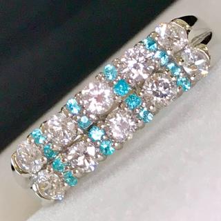 🌹しまちゃん様専用ページ♡綺麗❣️煌めきパライバ銀河♡ダイヤリング(リング(指輪))