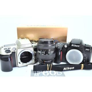 ニコン(Nikon)のNIKON F60 2台セット + 標準ズーム  元箱・ストラップ・説明書他付属(フィルムカメラ)