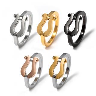 話題商品☆オールチタンステンレス製選べる5種類ホースシューリング(リング(指輪))