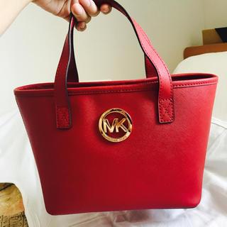 マイケルコース(Michael Kors)のマイケルコースMKレザートートミニハンドバッグ赤ジェット(ハンドバッグ)