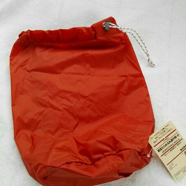 MUJI (無印良品)(ムジルシリョウヒン)の無印良品 軽量たためる丸底巾着 スポーツ/アウトドアのアウトドア(登山用品)の商品写真