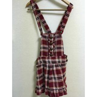 リズリサ(LIZ LISA)のLIZ LISA チェックサロペットスカート(スカート)