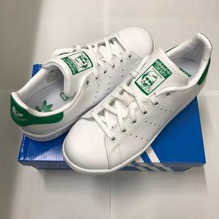 アディダス(adidas)の新品☆アディダス スタンスミス J ホワイト/グリーン レディース(スニーカー)