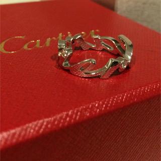 カルティエ(Cartier)のちび様用 カルティエ k18  WG ダイヤリング(リング(指輪))