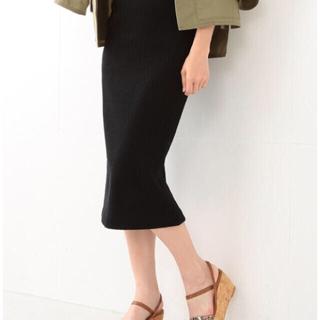 デミルクスビームス(Demi-Luxe BEAMS)のDemi-Luxe BEAMS / コットンリネン テレコタイトスカート(ひざ丈スカート)