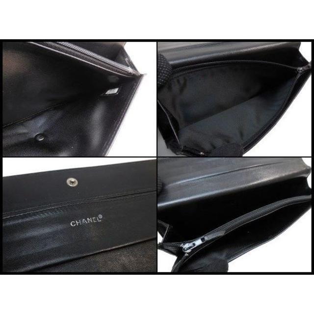 ba803a5f879c CHANEL(シャネル)のCHANEL シャネル ニュートラベルライン 二つ折り長財布 黒 レディース