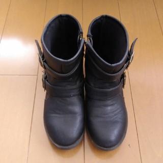 ジーユー(GU)のGU GIRLS 内側ジップショートブーツ20(ブーツ)