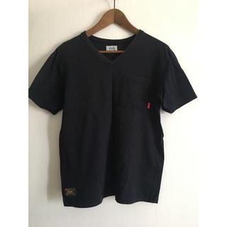 ダブルタップス(W)taps)のWTAPS Vネック Tシャツ tee ネイビー S(Tシャツ/カットソー(半袖/袖なし))