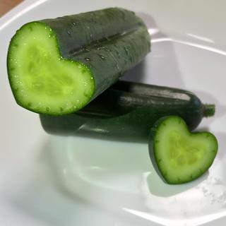 ハートキュウリとスナップエンドウ(野菜)