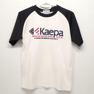 ケイパ(Kaepa)のA600 中古 Kaepa ケイパ ポリエステル Tシャツ 白×黒 キッズ(Tシャツ/カットソー)