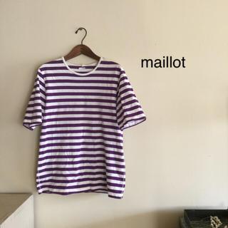gggmさま*   maillot  マイヨ ボーダーTシャツ(Tシャツ(半袖/袖なし))