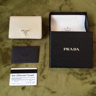 プラダ(PRADA)のプラダ 二つ折り財布 ホワイト(財布)