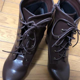 ブラウン ショートブーツ(ブーツ)