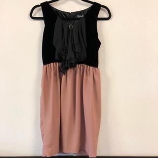 ローズバッド(ROSE BUD)の値下げ❤️美品 インスティント ピンク ワンピース(ミディアムドレス)