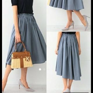 デミルクスビームス(Demi-Luxe BEAMS)のギャザースカート 新品未使用(ひざ丈スカート)