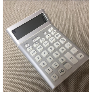 MUJI (無印良品) - 無印良品『画面が起こせる電卓』