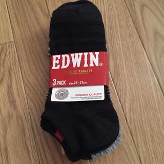 エドウィン(EDWIN)の新品未使用 靴下 3パック エドウィン(ソックス)