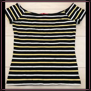パピヨネ(PAPILLONNER)の【未使用】4every*ボーダー ショート丈トップス(Tシャツ(半袖/袖なし))