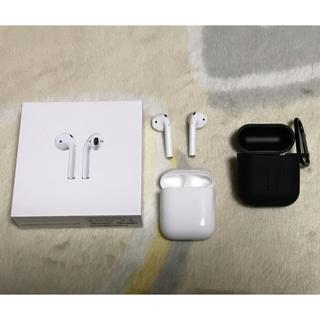 アップル(Apple)のApple AirPods シリコンカバー付き(ヘッドフォン/イヤフォン)