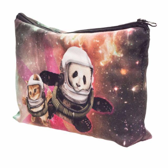 猫ポーチ パンダポーチ 猫とパンダの宇宙旅行♪ 新品未使用品 送料無料♪ その他のペット用品(猫)の商品写真