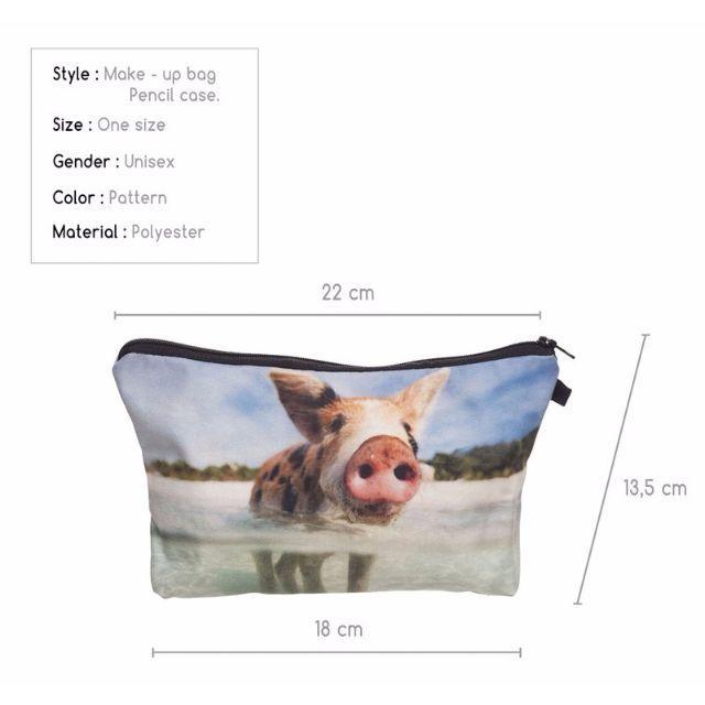 ぶたポーチ 豚コスメポーチ ブタ小物入れ☆新品未使用品 送料無料♪ レディースのファッション小物(ポーチ)の商品写真