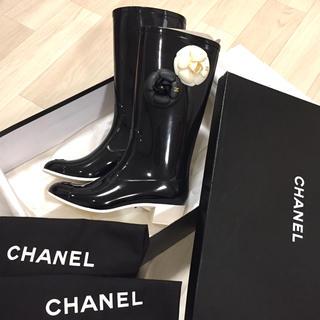 シャネル(CHANEL)の新品未使用 CHANEL レインブーツ 37(レインブーツ/長靴)