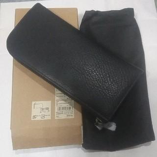 ムジルシリョウヒン(MUJI (無印良品))の新品未使用 無印良品 ヌメ革Lファスナー長財布 黒(長財布)