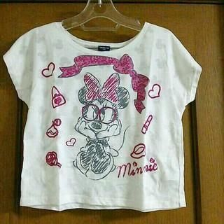 シマムラ(しまむら)の美品 女児ミニーマウス半袖カットソー150cm(Tシャツ/カットソー)