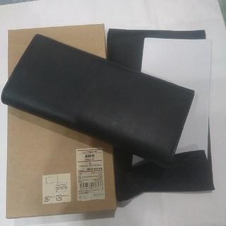 ムジルシリョウヒン(MUJI (無印良品))の新品未使用 無印良品 ヌメ革長財布 黒(長財布)