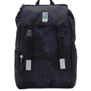 エムイーアイリテールストア(MEIretailstore)の新品未使用 mei 紺 NAVY 迷彩 カモ BACKPACK BAG バッグ(リュック/バックパック)
