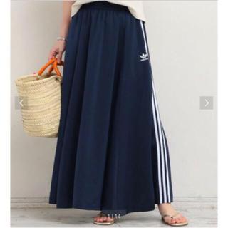アディダス(adidas)のadidas スリーストライプスロングスカート(ロングスカート)