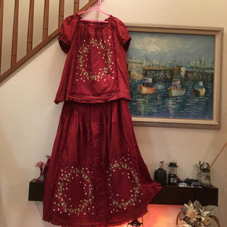 ピンクハウス(PINK HOUSE)のピンクハウス綿ローンブラウスとスカートのセット(セット/コーデ)