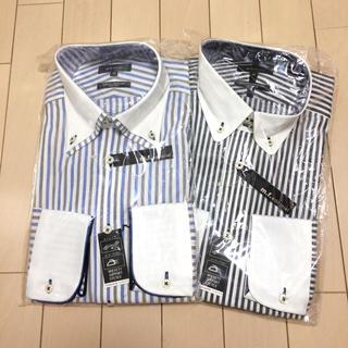 エムエフエディトリアル(m.f.editorial)のTAKAQ m.f.editorial ストライプシャツ 2枚セット 長袖(Tシャツ/カットソー(七分/長袖))