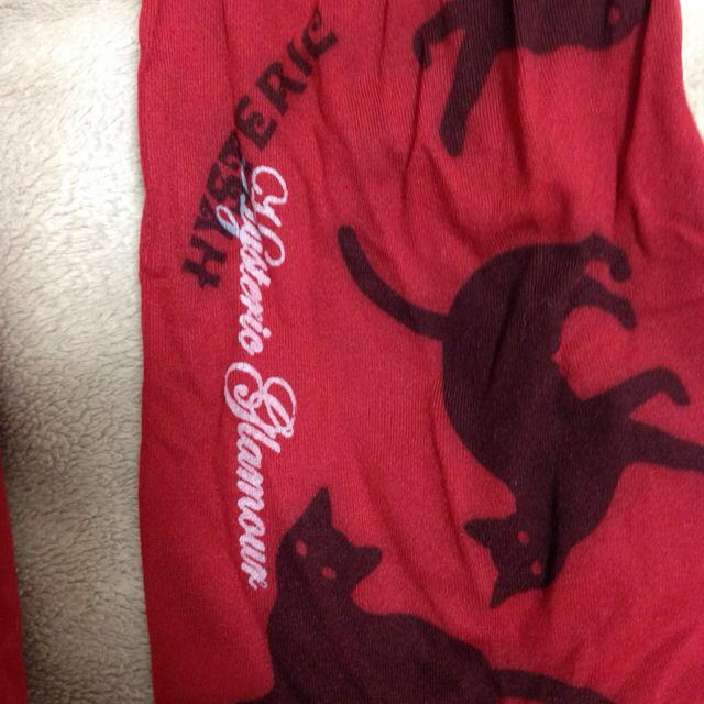 HYSTERIC GLAMOUR(ヒステリックグラマー)のヒステリックグラマー猫赤タイツ レディースのレッグウェア(タイツ/ストッキング)の商品写真