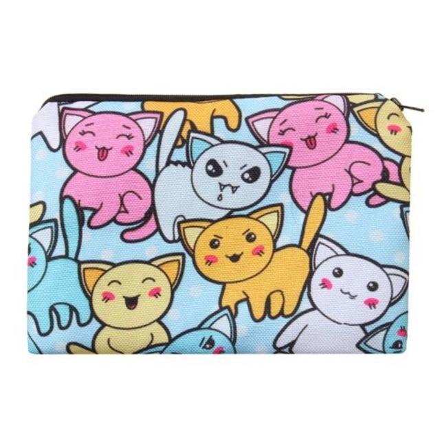猫☆猫ポーチ 猫小物入れ 新品未使用品 送料無料♪ その他のペット用品(猫)の商品写真