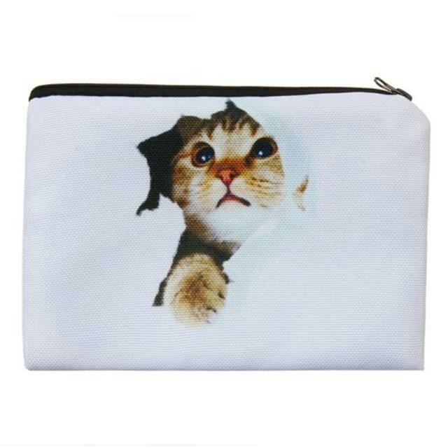 ねこ 猫ポーチ 猫小物入れ 新品未使用品 送料無料 その他のペット用品(猫)の商品写真