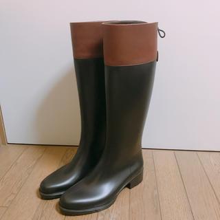 ファビオルスコーニ(FABIO RUSCONI)の【激安】FABIO RUSCONIレザー×ラバーロングレインブーツ(レインブーツ/長靴)
