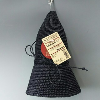 ムジルシリョウヒン(MUJI (無印良品))の新品 無印良品 ラフィアたためるキャペリン・ネイビー(麦わら帽子/ストローハット)