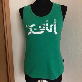 エックスガール(X-girl)のエックスガール ノースリ Tシャツ グリーン(Tシャツ(半袖/袖なし))