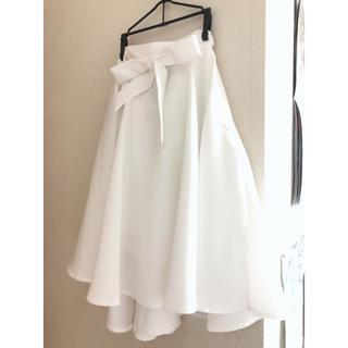 アンティックラグ(antic rag)のantic rag アンティックラグ ホワイト ミモレ丈 スカート(ロングスカート)