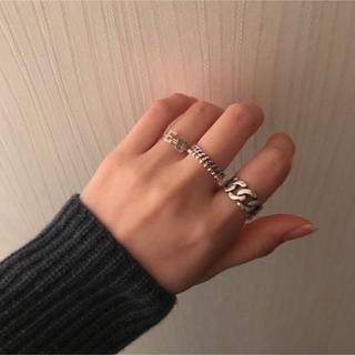 silver925 チェーンリング調整可能タイプシルバー925 指輪import(リング(指輪))