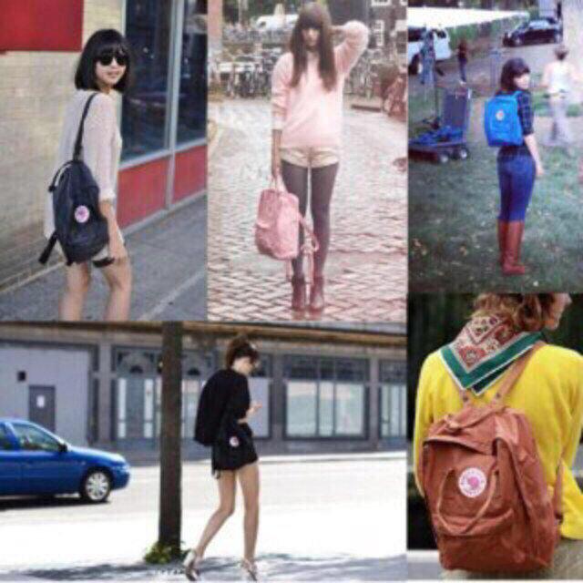 ♡ KANKEN ピンク×ブルー ♡ レディースのバッグ(リュック/バックパック)の商品写真
