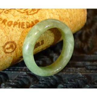 J455 1380円 ヒスイ翡翠リング指輪 8.5号 ジェイド ライトグリーン(リング(指輪))